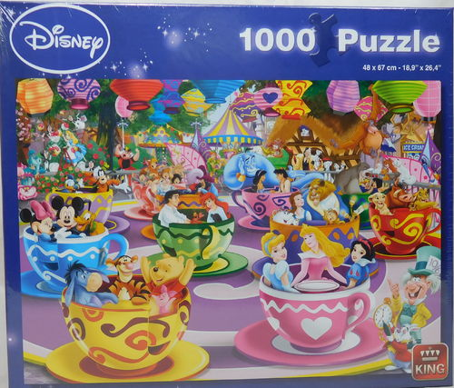 King Puzzle 1000 Teile Disney Mad Tea Cup