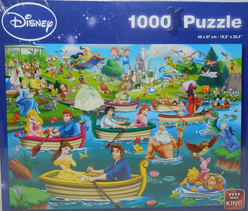 King Puzzle 1000 Teile Disney Fun on the Water 5260