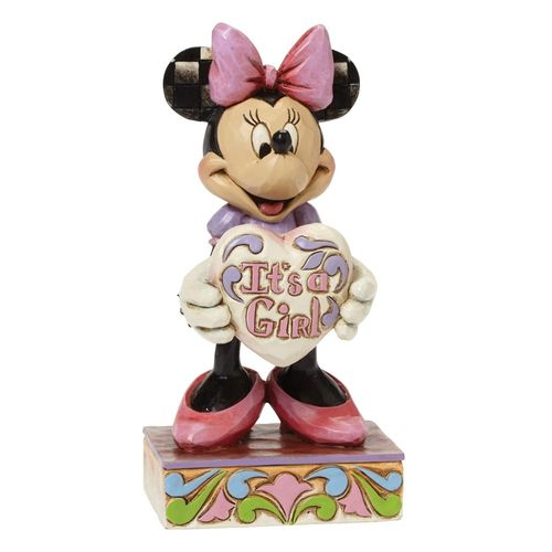 "enesco disney Minnie Mouse 4043664 ""It`s a Girl"""