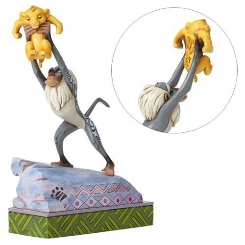 Jim Shore Disney Traditions by Enesco Rafiki and Baby Simba On Pride Rock Figur