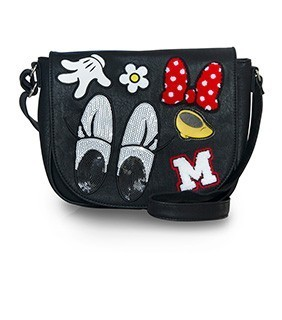 Loungefly  Minnie Patches Crossbody Bag
