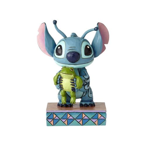 Jim Shore Disney Traditions by Enesco Stitch mit Frosch Personality Pose Figur 4059741