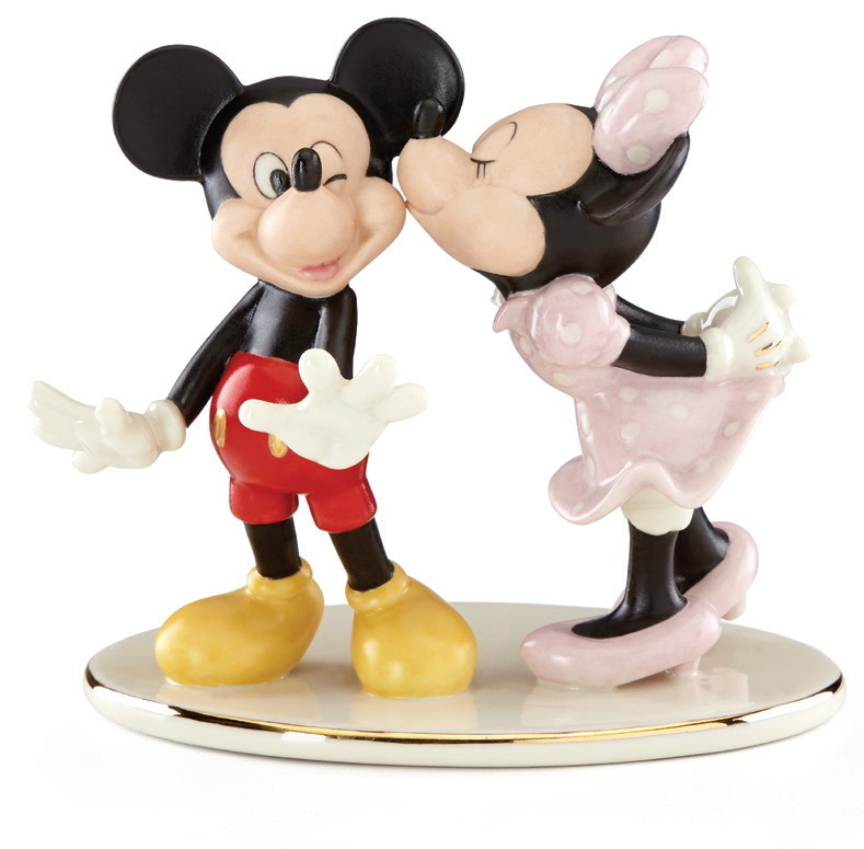 Disney Figur Lenox 878907 Mickey Minnie Mouse Sneaks A Kiss