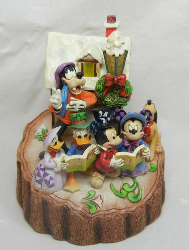 Mickey Mouse Figur Holiday Harmony mit Licht (ohne Batterien) 18,5 cm Jim Shore