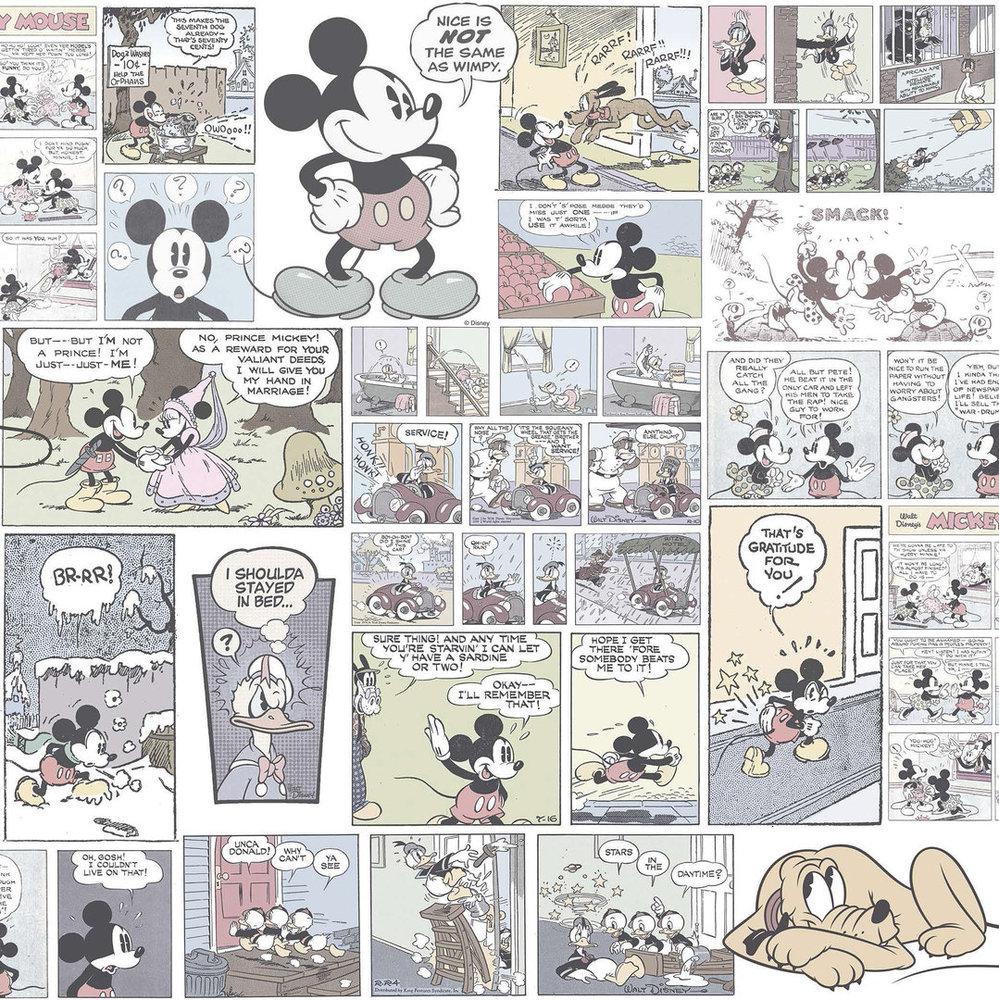Disney Tapete 3011-2 Mickey mouse Farbig blass