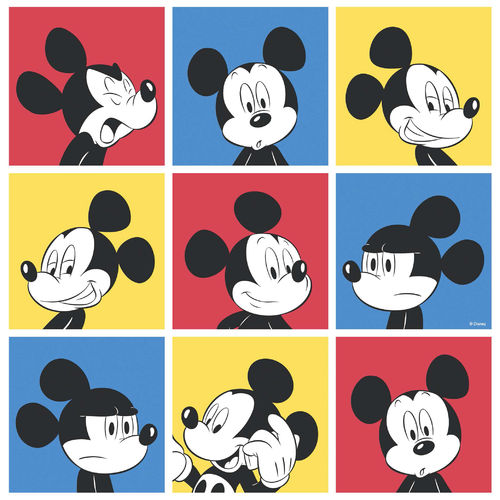 Disney Tapete 3013-1 Mickey mouse Viereck Design 1g