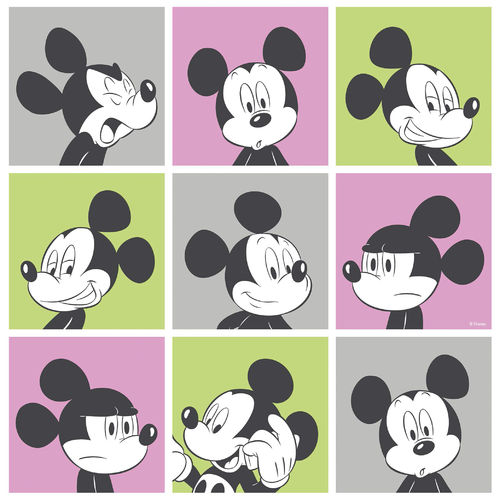 Disney Tapete 3013-3 Mickey mouse Viereck Design 3