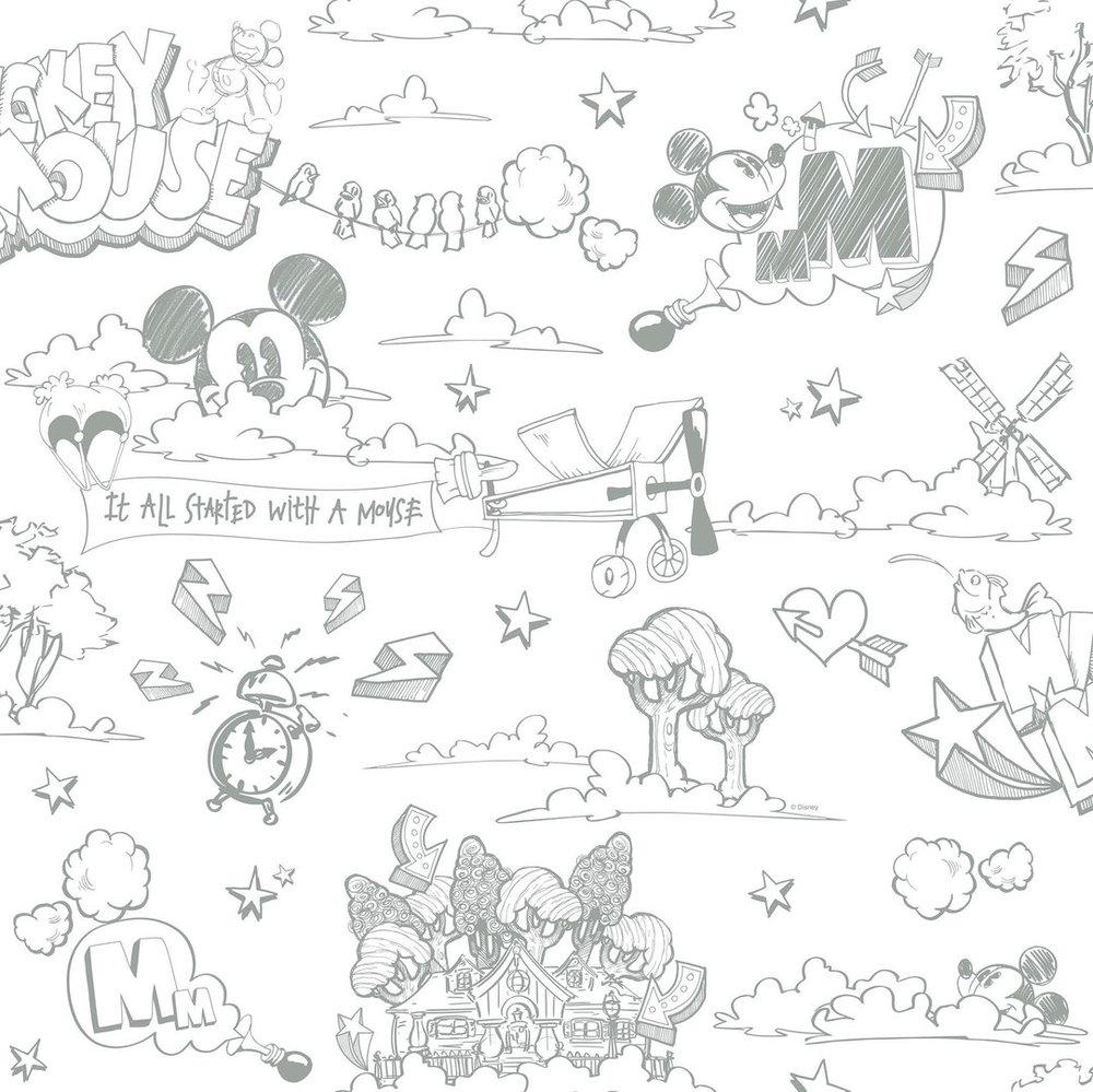 Disney Tapete 3014-4 Mickey mouse Strichdesign Design 4