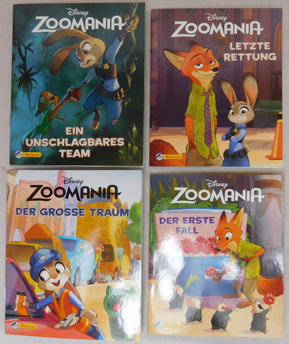 Nelson Mini-Bücher: Disney Zoomania 1-4 (Softcover)