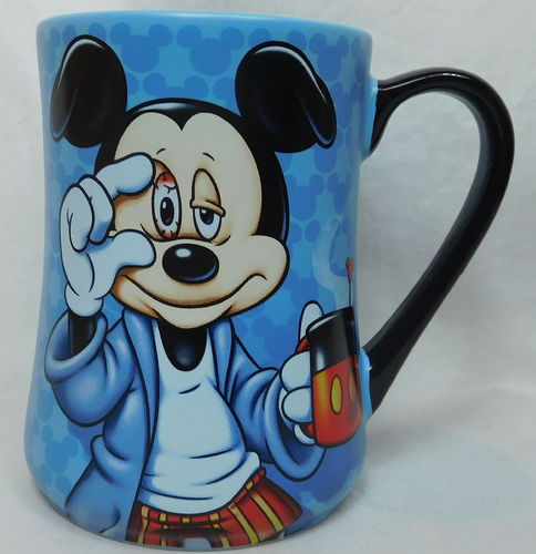 Disney Tasse kaffeetasse MUG Mickey Mouse müde morning