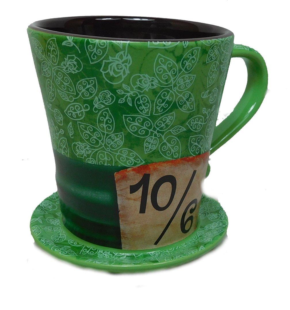 tasse pott kaffetasse alice im wunderland hutmacher gr n ein disney shop in deutschland. Black Bedroom Furniture Sets. Home Design Ideas