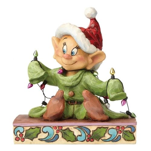Disney Enesco Traditions Jim Shore 4057938 Zwerg Dopey mit Christmas Lights