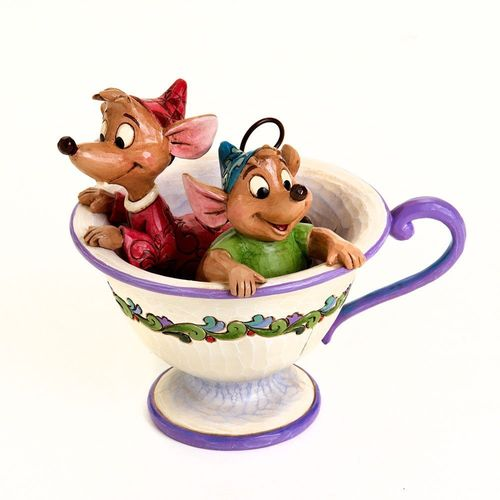 Tea for Two JAQ GUS Mäuse Tasse Cinderella Jim Shore Disney Traditions 4016557