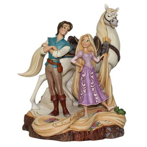 Disney Traditions Tangled Live Your Dream Carved by Heart Statue Rapunzel