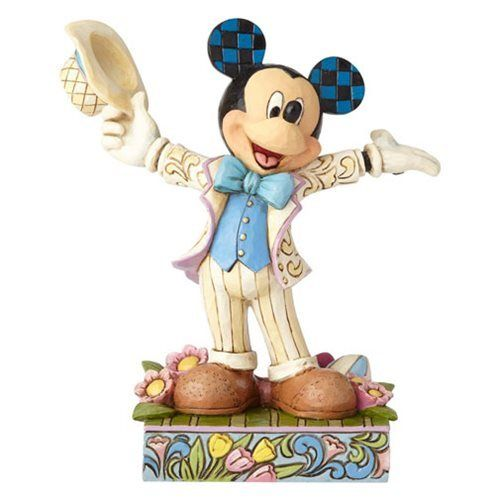 Disney Traditions Spring Mickey Mouse Hats Off to Spring Statue