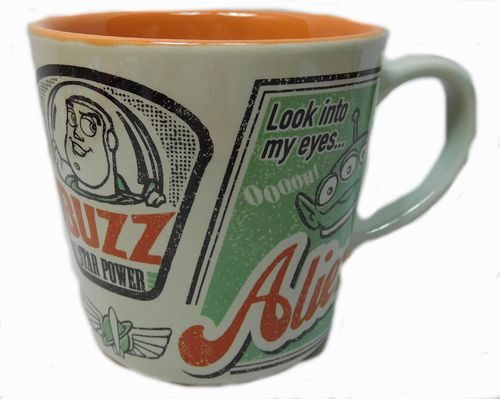 Disney Kaffeetasse Tasse Mug Pott Kaffee Disneyland Paris Retro Toy Story Buzz Alien