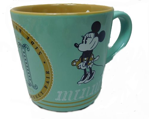 Disney Kaffeetasse Tasse Mug Pott Kaffee Disneyland Paris Retro Mickey und Minnie
