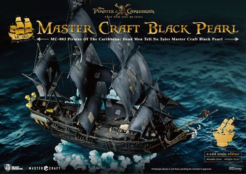 Pirates of the Caribbean Salazars Rache Master Craft Statue 1/144 Black Pearl 36 cm