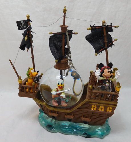 Disney Schneekugel Piratenschiff mit Mickey Donald Pluto