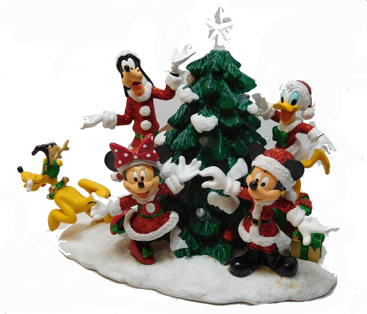 disney weihnachts diorama szene mickey minnie donald goofy. Black Bedroom Furniture Sets. Home Design Ideas