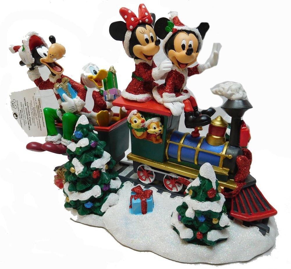 Disney Weihnachts Diorama Szene Mickey Minnie Donald Goofy Zug - Ein ...