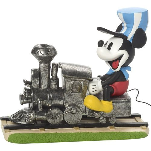 Precious Moments, Disney Showcase Mickey Mouse Figur On The Right Track, Resin, 171703
