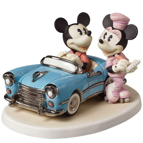 "Precious Moments, Disney Showcase Mickey Mouse Figur Minnie im auto ""You make my heart race"