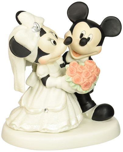 Precious Moments, Disney Showcase Mickey Mouse Figur Minnie Hochzeitspaar 153706