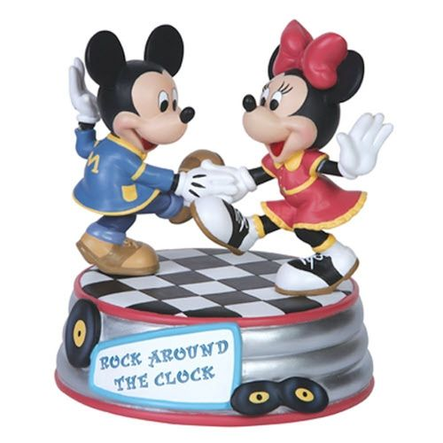 Precious Moments, Disney Showcase Mickey Mouse Figur Minni Spieluhr Rock arround the Clock