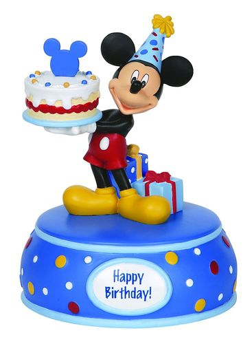 Precious Moments, Disney Showcase Mickey Mouse Figur Spieluhr 142706