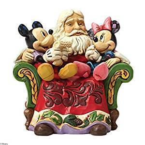 Jim Shore for Enesco Disney Traditions by Santa with Mickey & Minnie Figur 4046017