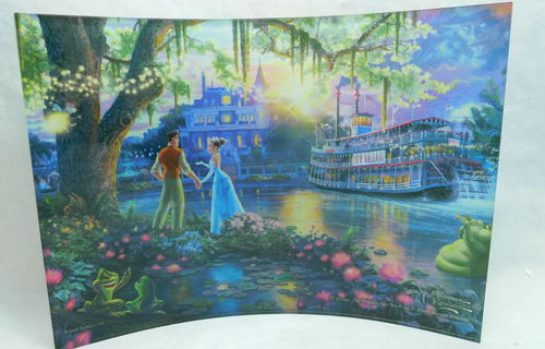 Disney: The Princess and the Frog 10 x 7 inch Acrylic Print Disney: Küss den Frosch Thomas Kinkade