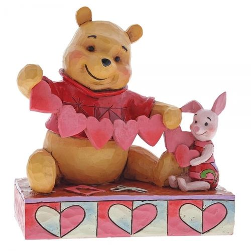 disney Enesco Traditions Jim Shore Winnie Pooh & Piglet Handgemachtes für Valentine