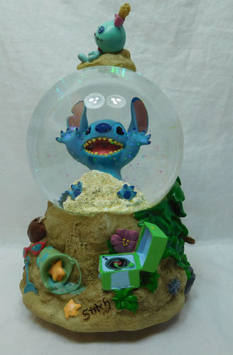 Disney Schneekugel Disneyland Paris Stitch mit Musik