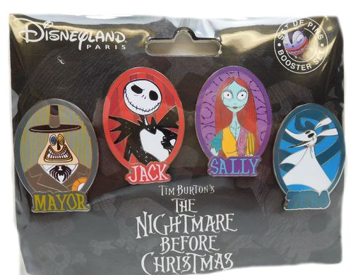 Disney Pin Pins DLRP 2017 Trade Set 4 Stück Nightmare Skellington Sally Burton