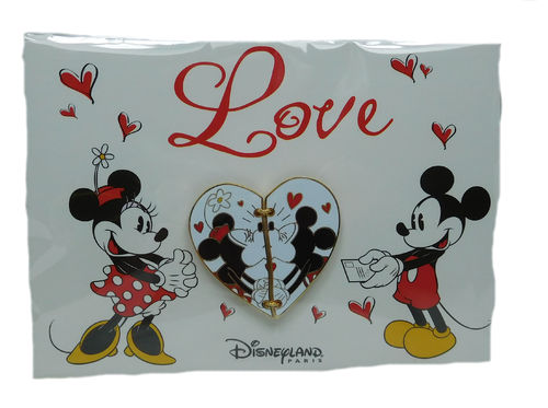 Disney Pin Pins DLRP 2018 Trade Set Mickey & Minnie Valentin Love