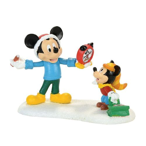 Disney Enesco  Department 56 Disney Village Mickey's Autograph Clock Accessory Figur