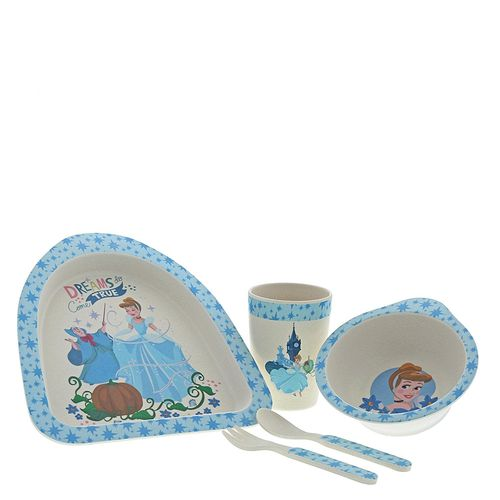 Enchanting Disney Cinderella Organic Bamboo Dinner Set Enesco