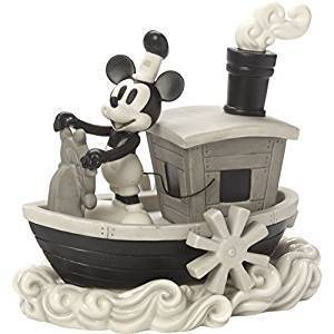 Precious Moments 172707 Steamboat Mickey Bisque Porzellan Figur Disney Showcase Mickey Mouse
