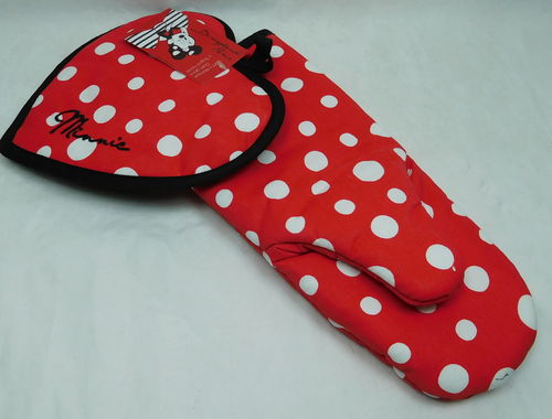 Disney Ofenhandschuh & Topflappen Minnie Mouse Retro Style