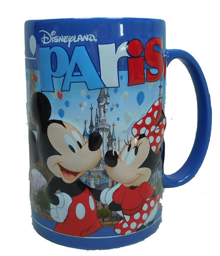 Disney Kaffeetasse Tasse Mug Pott Kaffee Becher Mickey & Minnie Mouse Disneyland Paris 2018