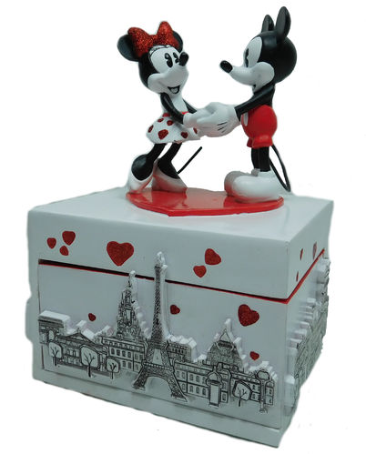 Disney Disneyland Paris Spieluhr Figur Mickey und Minnie Mouse J'taime mon amour