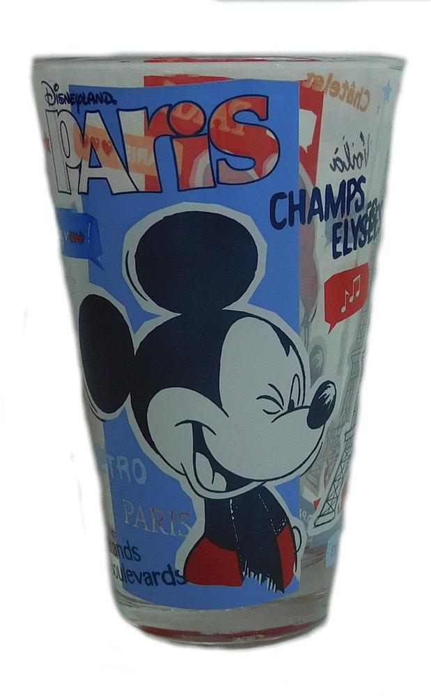 Disneyland Paris Mickey Mouse Trinkglas.