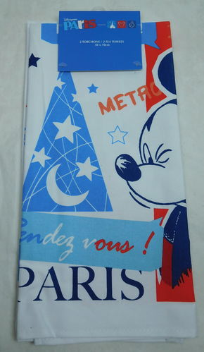 Disney Handtuch Geschirrtuch Tuch Towels Minnie Mouse Mickey Mouse Paris