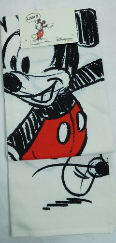 Disney Handtuch Geschirrtuch Tuch Towels Mickey Mouse Retro Style rot weiß WOW