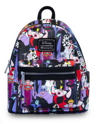 Loungefly Disney Rucksack Backpack Daypack Villains Ursula Cruella Böse Königin Herzkönigin