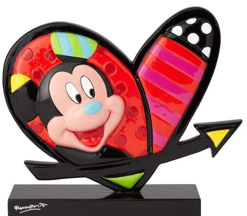 Enesco Disney Figur Britto : Herz Icon Mickey und Minnie