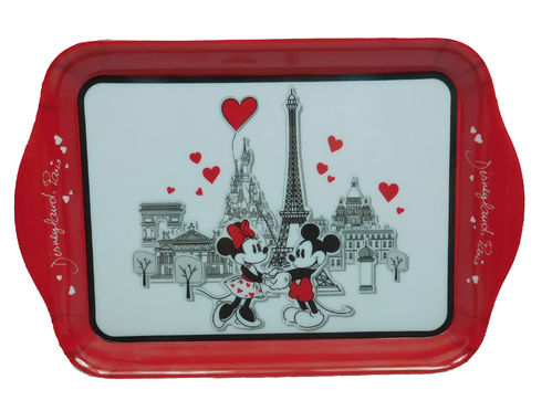 Disney  Disneyland Paris Tablett klein aus Melanin Mickey und Minnie in Love