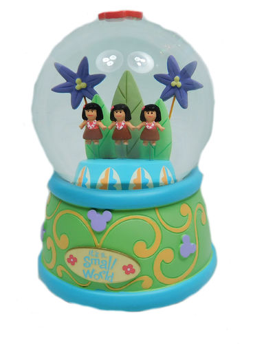 Disney Figurine Disneyland Paris musical Snow Globe playing It`s a small world  Schneekugel