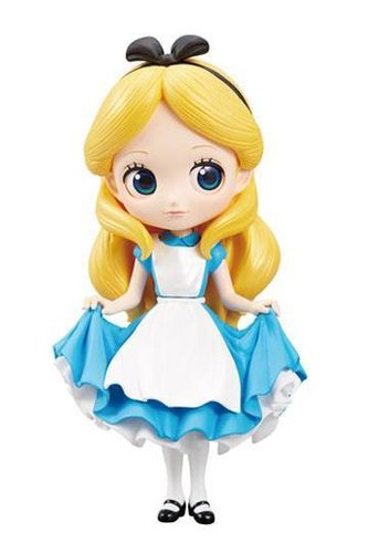 Disney Q Posket Minifigur Alice A Normal Color Version 14 cm Minifiguren Disney
